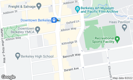Map of California Theatre at 2113 Kittredge St Berkeley, CA