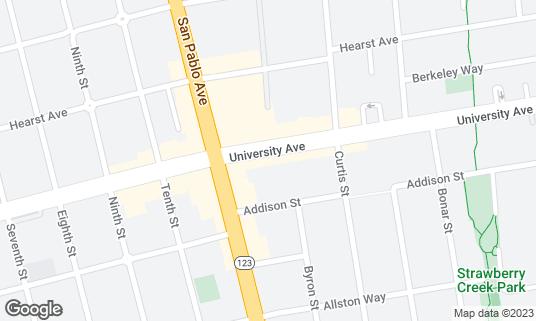 Map of Algorithm Coffee Co. at 1122 University Ave Berkeley, CA