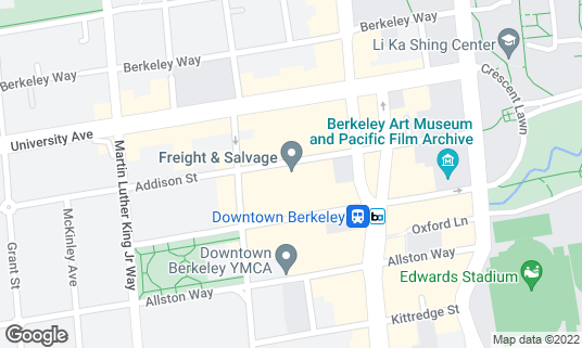 Map of Freight & Salvage Coffeehouse at 2020 Addison St Berkeley, CA