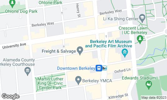 Map of Berkeley Repertory Theatre at 2025 Addison St Berkeley, CA