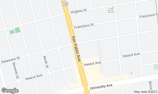 Map of Casa Latina Bakery at 1805 San Pablo Ave Berkeley, CA