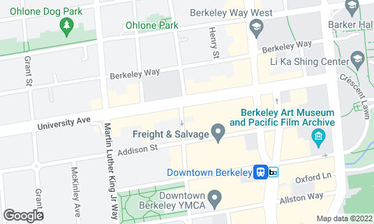 Map of Au Coquelet Cafe at 2000 University Ave Berkeley, CA