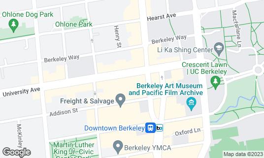 Map of Imm Thai at 2068 University Ave Berkeley, CA
