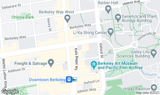 Map of Blue Bottle Coffee at 2118 University Ave Berkeley, CA