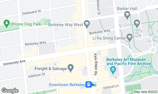 Map of About Tender Greens at 2071 University Ave Berkeley, CA