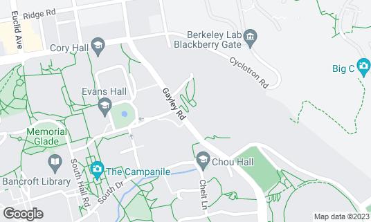 Map of William Randolph Hearst Greek Theatre at 2001 Gayley Rd Berkeley, CA