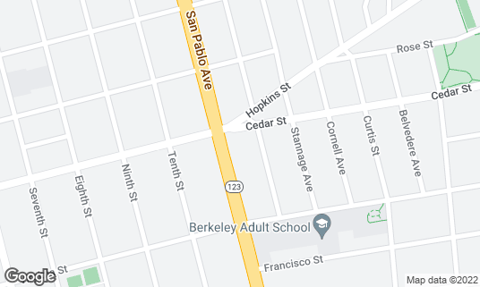 Map of Bartavelle at 1603 San Pablo Ave Berkeley, CA