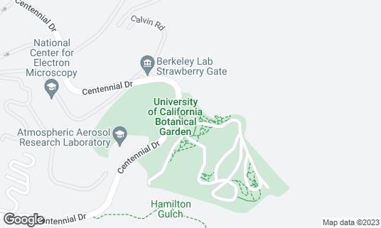 Map of UC Botanical Garden at Berkeley at 200 Centennial Dr Berkeley, CA