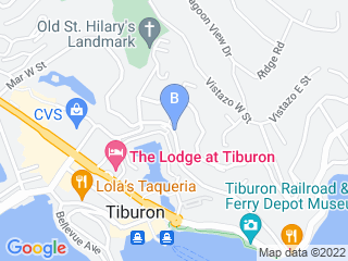 Map of Woof Pet Sitting Service Dog Boarding options in Belvedere Tiburon | Boarding