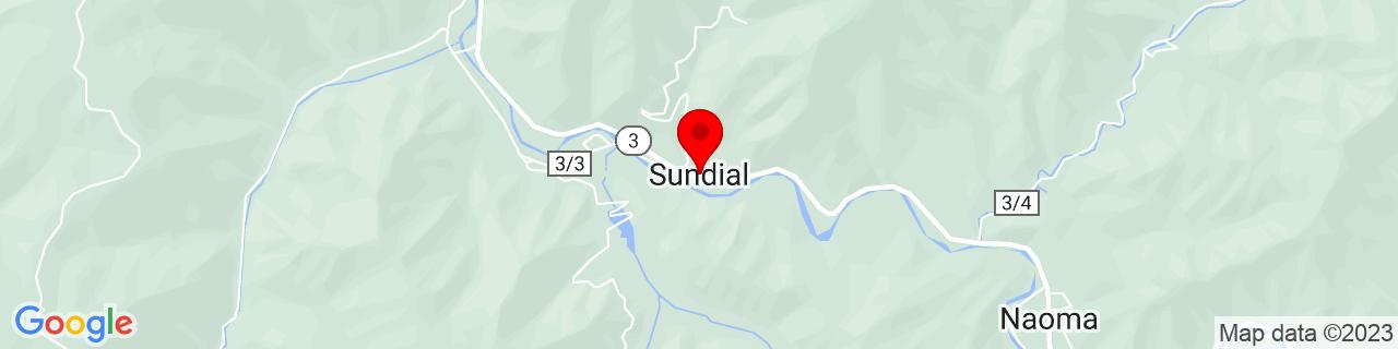 Google Map of 37.8762205, -81.5145534
