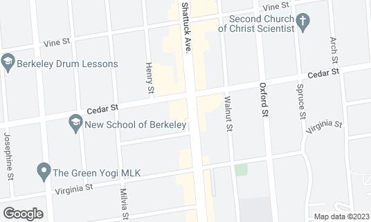 Map of Philz Coffee at 1600 Shattuck Ave Berkeley, CA