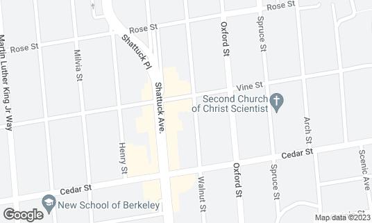 Map of Nico's Hideaway at 1508 Walnut St Berkeley, CA