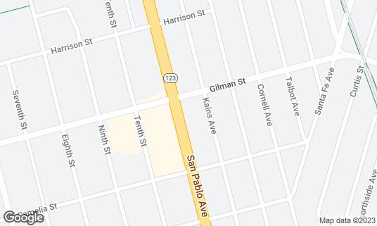Map of Ashkenaz Music & Dance Community Center at 1317 San Pablo Ave Berkeley, CA