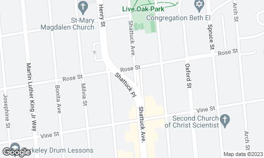 Map of Kamado Sushi at 1400 Shattuck Ave Berkeley, CA