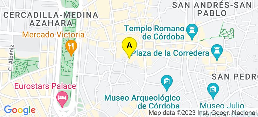 situacion en el mapa de . Direccion: Calle Sevilla 7 2, 14003 Córdoba. Córdoba