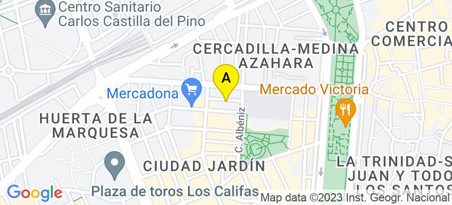 situacion en el mapa de . Direccion: C/Alcalde Aparicio y Marin num 5, 14005 Córdoba. Córdoba