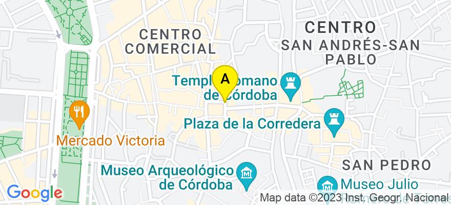 situacion en el mapa de . Direccion: C/ Fray Luis de Granada, 1 - 1º derecha, 14008 Córdoba. Córdoba