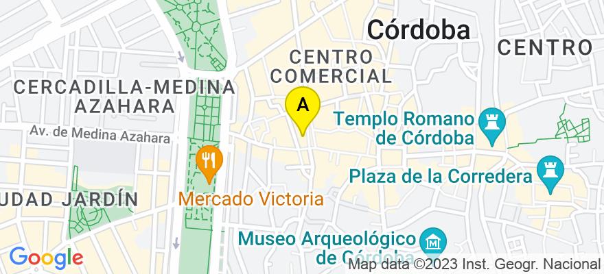situacion en el mapa de . Direccion: Avenida del Gran Capitan 1 - 5º E, 14008 Córdoba. Córdoba