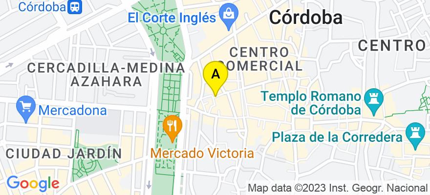 situacion en el mapa de . Direccion: Menendez Pelayo 7, bajo 2, 14008 Córdoba. Córdoba