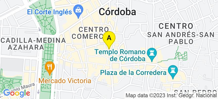 situacion en el mapa de . Direccion: C/ José Cruz Conde 10, 2º-8, 14003 Córdoba. Córdoba