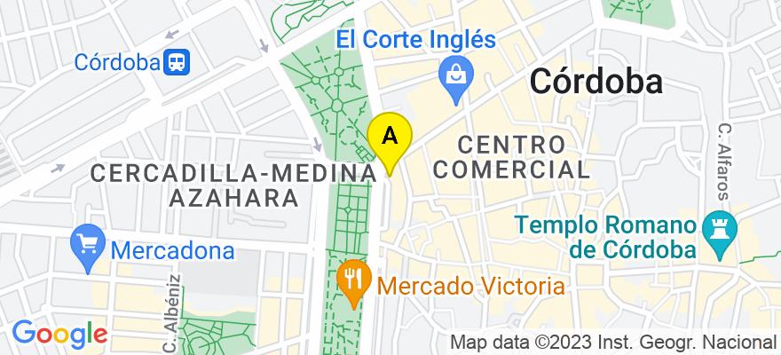 situacion en el mapa de . Direccion: Paseo de la Victoria 1, 14008 Córdoba. Córdoba