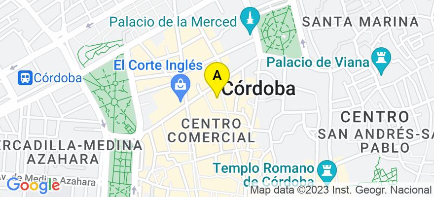 situacion en el mapa de . Direccion: Calle JOSÉ CRUZ CONDE Nº. 19, 14001 Córdoba. Córdoba