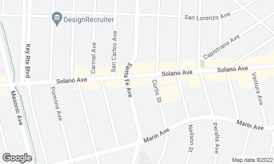 Map of Schmidt's Pub at 1492 Solano Ave Albany, CA