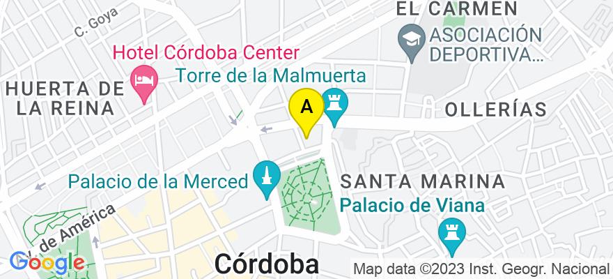 situacion en el mapa de . Direccion: Plaza Colón 20, 1º - 4, 14001 Córdoba. Córdoba
