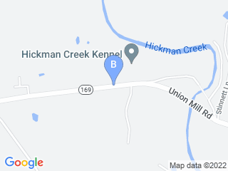 Map of Hickman Creek Kennel LLC Dog Boarding options in Nicholasville | Boarding