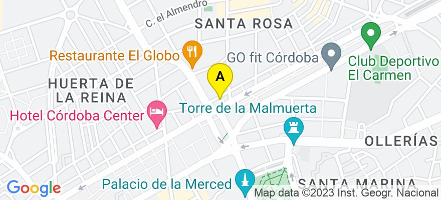 situacion en el mapa de . Direccion: Avda. Al Nasir nº 3-3º-2, 14006 Córdoba. Córdoba