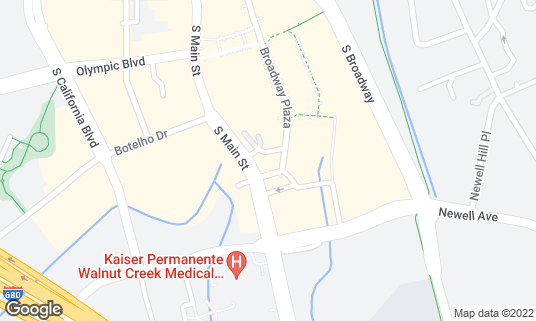 Map of Stanford's Restaurant at 1300 S Main St Walnut Creek, CA