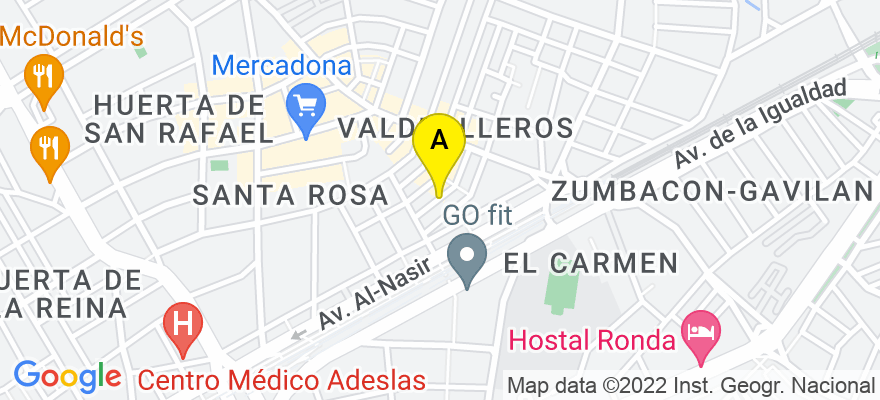 situacion en el mapa de . Direccion: C/ PINTOR MONSERRAT 32, 14006 Córdoba. Córdoba