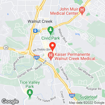 Map of Lou & Grey at 1266 Broadway Plaza, Walnut Creek, CA 94596