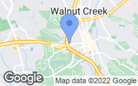 Map of Walnut Creek, CA