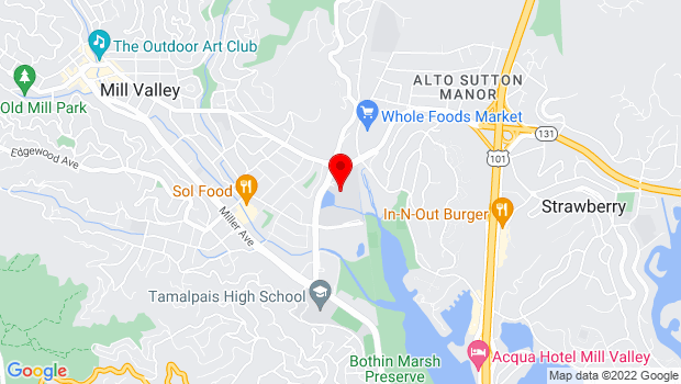 Google Map of 180 Camino Alto , Mill Valley, CA 94941