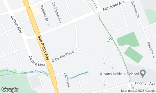Map of El Cerrito Plaza at San Pablo Ave and Fairmont Ave El Cerrito, CA
