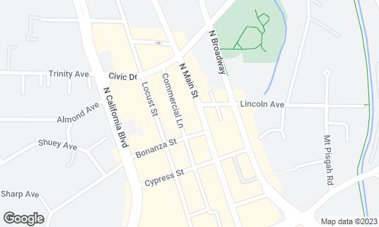 Map of Modern China Cafe at 1525 N Main St Walnut Creek, CA