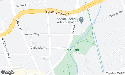 Map of Blu 42 Sports Lounge and Grill at 1251 Arroyo Way Walnut Creek, CA