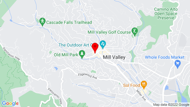 Google Map of 142 Throckmorton Avenue, Mill Valley, CA 94941