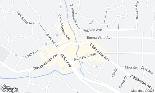 Map of Playa at 41 Throckmorton Ave Mill Valley, CA