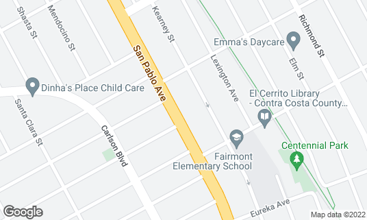 Map of Barney McBears at 10458 San Pablo Ave El Cerrito, CA