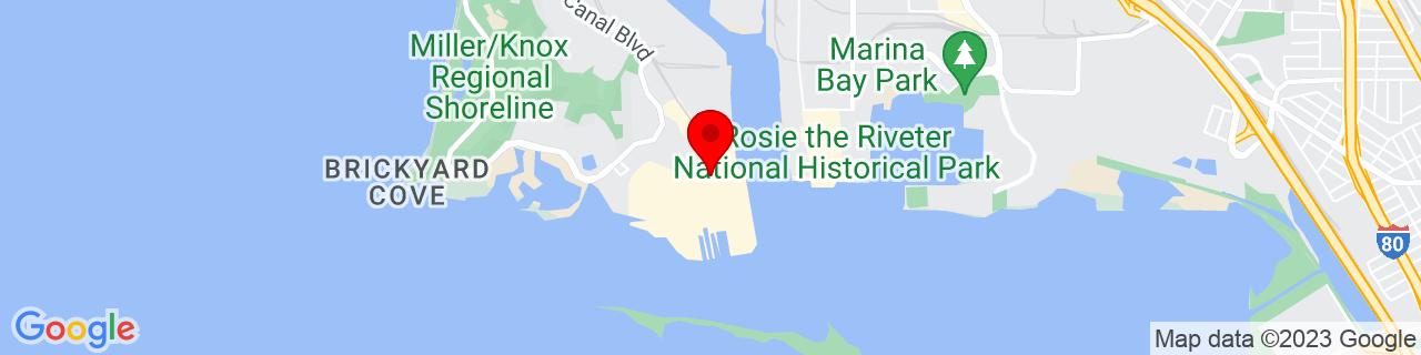 Google Map of 37.9097091, -122.3669474