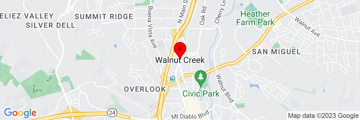 Google Map of 37.910078333333,-122.06518194444