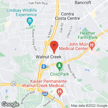 Map of Carquest Auto Parts at 1295 Parkside Drive, Walnut Creek, CA 94596