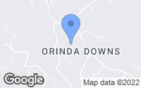 Map of Orinda, CA