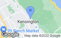 Map of Kensington, CA