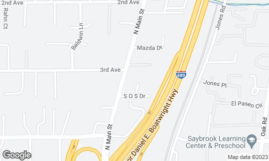 Map of Spoontonic Lounge at 2580 N Main St Ste A Walnut Creek, CA