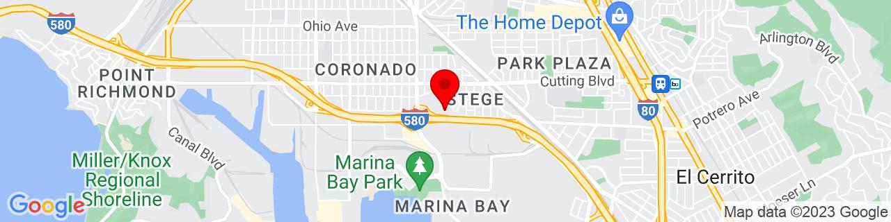 Google Map of 37.9225166, -122.3441625