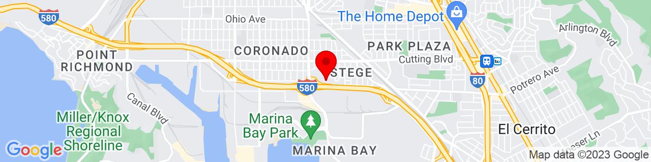 Google Map of 37.9225379, -122.344722