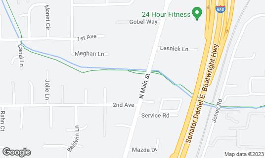 Map of Masses Billiards & Sports Bar & Grill at 2721 N Main St Walnut Creek, CA